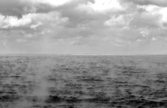 Arctic sea smoke off Malabar Island